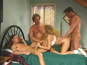Kim Chambers deep throat gangbang and anal