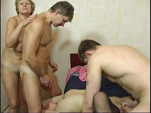Amazing old vs. young xxx orgy vintage style