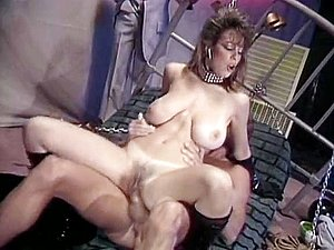 Christy Canyon, Peter North in bdsm mistress lets the slave fuck her in 70s porn
