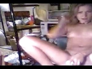 Girl teasing and dancing in dorm room
