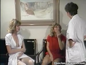 Three nurse plunge in lesbo orgy