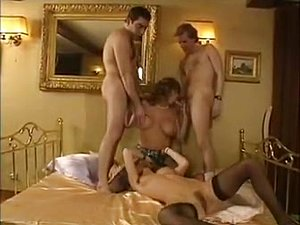 Horny double penetration classic scene with Charles Franzi and Christophe Clark