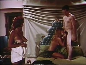 Exotic interracial vintage scene with Paula Page and Candy Samples