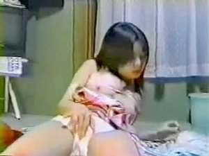 Japanese young cute girl masturbation hidden cam