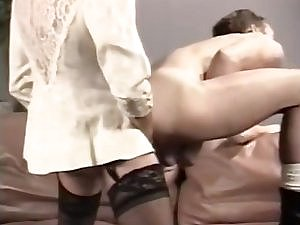 Vintage CD In Stockings Screwing A Fellow